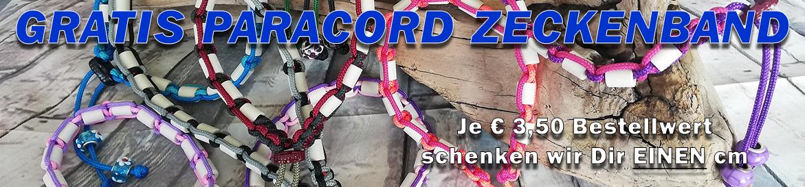 Paracord Zeckenhalsband Aktion